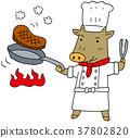 스테이크 소 요리사 37802820