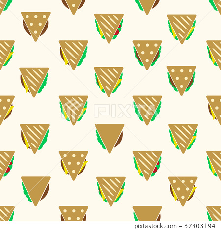 tortilla or sandwich tacos food seamless pattern 37803194