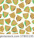 tortilla or sandwich tacos seamless pattern eps10 37803195