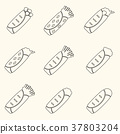 set of outline tortilla food icons set eps10 37803204