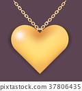 necklace heart golden 37806435