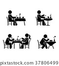 Eating and drinking pictogram 37806499