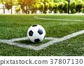 soccer Football on Corner kick line 37807130