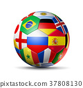 Russia 2018. Football soccer ball with flags 37808130