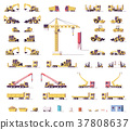 Vector low poly construction machinery 37808637