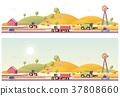 vector, farm, low 37808660