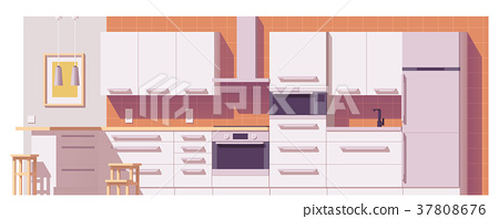 Vector kitchen illustration 37808676