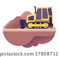 Vector bulldozer icon 37808712