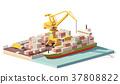 vector, container, ship 37808822
