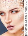 化妝 萊茵石 女人 37809557
