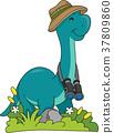 Dino Brontosaurus Explorer Illustration 37809860