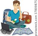 Teen Guy Traveler Packing 37809875