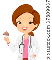 Girl Doctor Psychedelic Mushroom Illustration 37809937