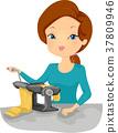 Girl Pasta Maker Illustration 37809946