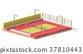 vector, tennis, court 37810443