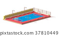 Vector low poly futsal court 37810449