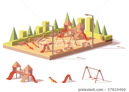 Vector low poly playground 37810460