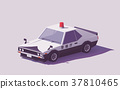Vector low poly Japanese police car 37810465