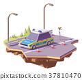 向量 向量圖 警車 37810470