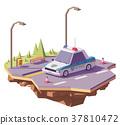 向量 向量圖 警車 37810472