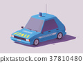 Vector low poly French gendarmerie car 37810480