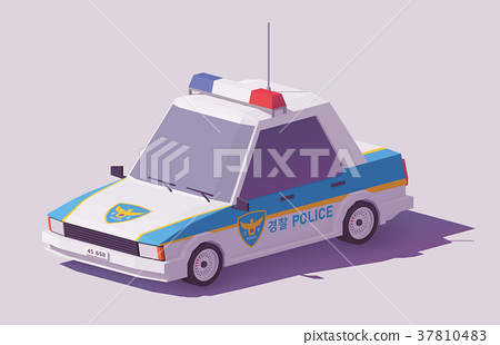 Vector low poly South Korean car 37810483