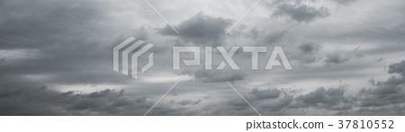 Panoranic gray overcast sky.  37810552