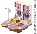 vector, taxi, car 37810783