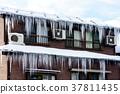 지붕, 고드름, 겨울 37811435