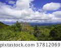 """เรามองไปที่บริเวณเมืองฟุกุชิมะและเขตภูเขา Abukuma จาก """"สวน Tengu"""" ที่ Tengu เต้นในสวนแห่งนี้ 37812069"""
