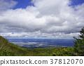 """เรามองไปที่บริเวณเมืองฟุกุชิมะและเขตภูเขา Abukuma จาก """"สวน Tengu"""" ที่ Tengu เต้นในสวนแห่งนี้ 37812070"""
