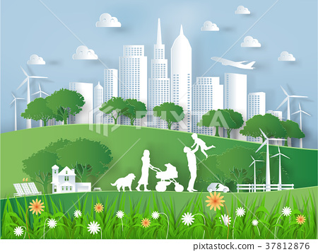 modern eco world environment and happiness family 37812876