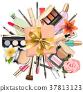 Vector Makeup Cosmetics with Gift 37813123
