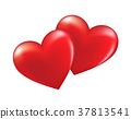 Two hearts in love. 37813541