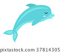 图标 海豚 可爱 37814305