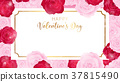 top view valentine's day invitation 37815490