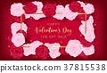 Love valentine's day golden border 37815538