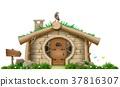 hut, vector, illustration 37816307