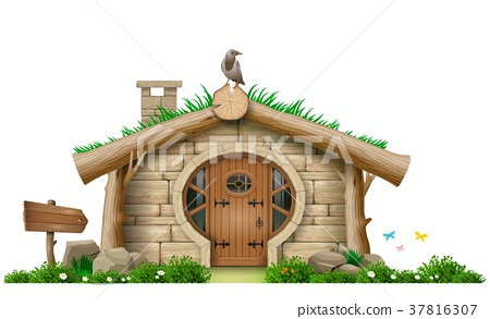 Fabulous forest gnome hut 37816307