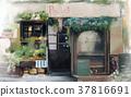 Illustration vintage shop design 37816691