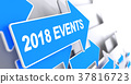 2018 Events - Message on the Blue Pointer. 3D. 37816723