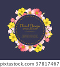 floral, invitation, wedding 37817467