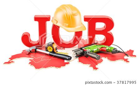 Job Vacancies in Switzerland concept, 3D rendering 37817995