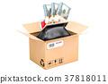 Purse with dollar packs inside parcel, money order 37818011