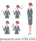 衣服的婦女擺在例證集合 37821305