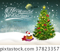 beautiful decorated Christmas tree and gifts 37823357