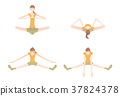 瑜伽妇女的例证 37824378