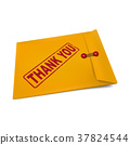 thank you on manila envelope 37824544