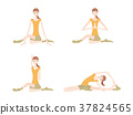 瑜伽妇女的例证 37824565