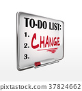 the word change on to-do list whiteboard 37824662